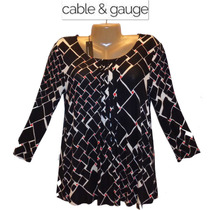 Blusa Talla S Chica Cable & Gauge Stretch Negra Hermosa Ve!!