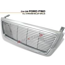 Parrilla Horinzontal Ford Lobo 04 05 06 07 08 F150 Cromada