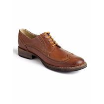 Zapato Adro Hombre Derby Longwing Cognac