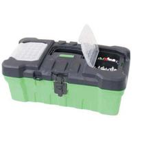 Caja De Herramientas De Plastico Con Organizador De 16 Pulg