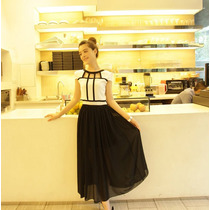 Vestido Largo Juvenil Elegante Moda Japonesa Envío Gratis