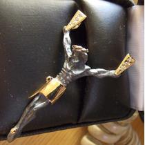 Cristo Plata Pavonada Con Oro De 14k Fn4