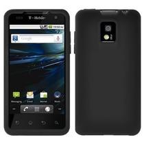Funda Silicon Lg Optimus 2x P990 Protector Plastico Negro