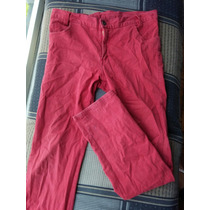 Jeans Rojos Tela.stretch Corte Recto