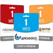 Pack Cuentas Premium Freakshare Uploaded Rapidgator 30 Dias