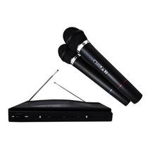 2 Microfonos Inalambricos + Receptor 50 Metros Karaoke Nuevo