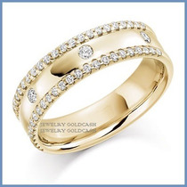 Argollas De Matrimonio Mod. Rolex Oro Amarillo 18k Solido