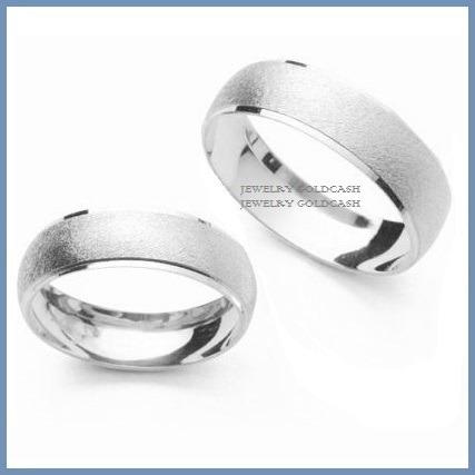 2f3b766b39aa Goldcash.- Argollas Matrimoniales Oro Blanco De 24k Chapa  700 bCbkN ...