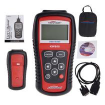 Escaner Automotriz Kw808 Universal Obd2 Multimarcas Eb1