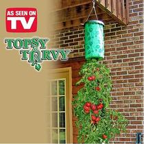 Topsy Turvy Cultive Tomates Y Hierbas Toda La Temporada