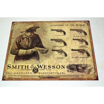 Tsn1743 Letrero Lamina Decorativa Smith & Wesson Firearm