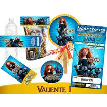 Invitaciones Valiente Disney Kit Imprimiblepersonalizado Vv4