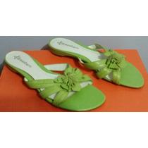 Sandalias Numero 5 Color Verde Remate Mn4
