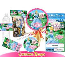 Invitacion Cenicienta 1kit Imprimible Personalizado Vv4