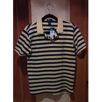 Polo By Ralph Lauren 100% Original A Rayas Amarillo Con Azul