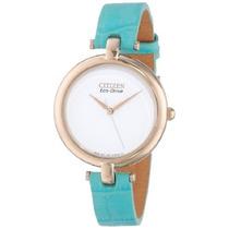 Reloj Citizen Em A Azul Femenino