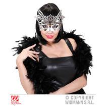 Masquerade Costume - Silver Venice Mask Baile De Carnaval