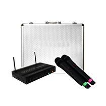 Set De Lujo 2 Microfonos Inalámbricos Y Receptor Profe Xaris