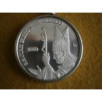 Moneda 1 Onza Ley 999 Plata Pura Juan Pablo I I Y Virgen Hm4