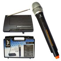 Micrófono Inalambrico Profesional Vhf Con Estuche Kmi-120