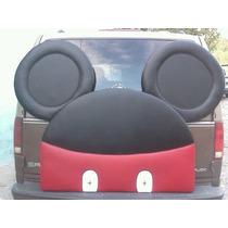 Mickey Mouse Cabecera Acojinada, Acabado En Tacto-piel Ind.