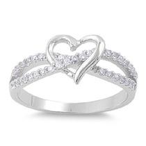 Anillo Amor Infinito Corazón Diamantes Oro !0k Compromiso