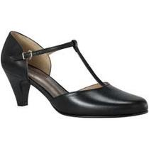 Zapato Para Mujer Confort Doble Ancho Color Negro 2025667