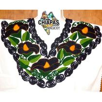 Blusa Bordada A Máquina. Modelo Zinacantán, Chiapas. (gde)
