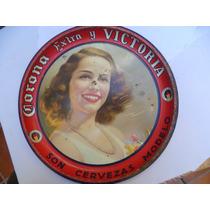 Antigua Charola De Cantina Años 30.s Victoria Cerveza