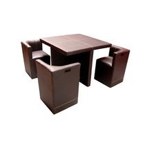Antecomedor Comedor Mesa Y 4 Sillas Lounge Minimalista