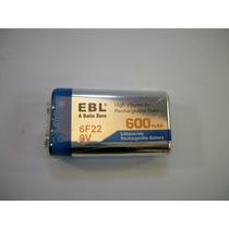 1 Pila O Batería Recargable De 9v 600 Mah