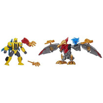 Transformers Héroe Mashers Bumblebee Y Strafe Mash Paquete