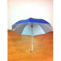 Paraguas Azul Mediano $35 Con Filtro Solar Desde Una Pz