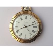 Antiguo Reloj De Bolsillo Timex Cuerda Años 80