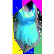 Vestipo Tipo Tutu Color Turqueza Talla 16