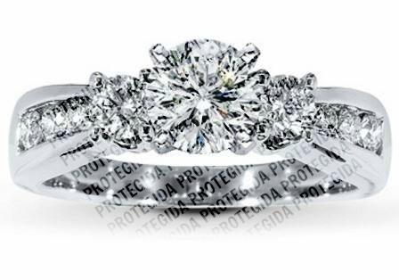 ab377d9e7247 Anillo Oro Blanco 10kt Diamante Ruso