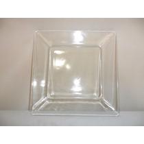 Plato Cuadrado De Vidrio De 25 X25 Cm Muy Buena Calidad