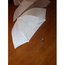 Paraguas Blanco Mediano .$35