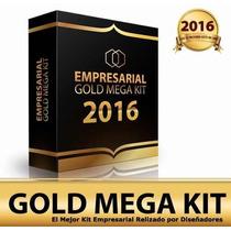 Mega Kit Imprimible Empresarial Gold + Recurditos Nuevo 2016