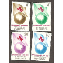 Estampillas Centenario Cruz Roja De Burundi Africa