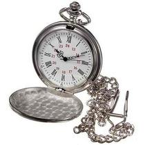 Reloj De Bolsillo Vintage Números Romanos Color Plata