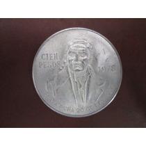 Moneda Cien Pesos Morelos 1978. De Plata Ley .720 Hm4