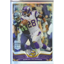2013 Topps Chrome Refractor All Pro Adrian Peterson Rb Viks