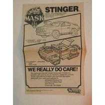 Instructivo Del Juguete - Mask Stinger - Kenner