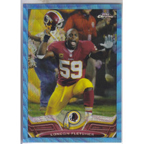 2013 Topps Chrome Blue Wave Refractor London Fletcher Lb