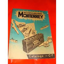 Antiguo Catalogo De Acumuladores Monterrey