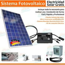 Sistema Fotovoltaico 4 Módulos 127v 1000 Watt. Conexión Cfe.