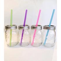 Popotes Tervis De Plastico Para Mason Jar Paquete Con 6