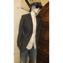 Saco O Blazers Gris Slim Fit Modelo Zara