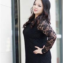 Vestido Corto Casual Talla Extra Grande Tipo Moda Japonesa